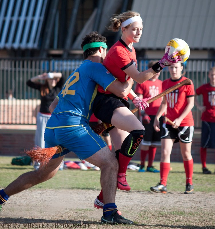 DuPont has always been willing to travel for quidditch, and attended this year's Western Cup as a mercenary member of the Utah Crimson Fliers. Credit: Lauren Carter