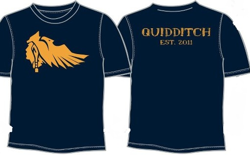 Marquette was successful by using an attractive design on the front of their t-shirt and leaving the quidditch mention on the back. Credit: Curtis Taylor