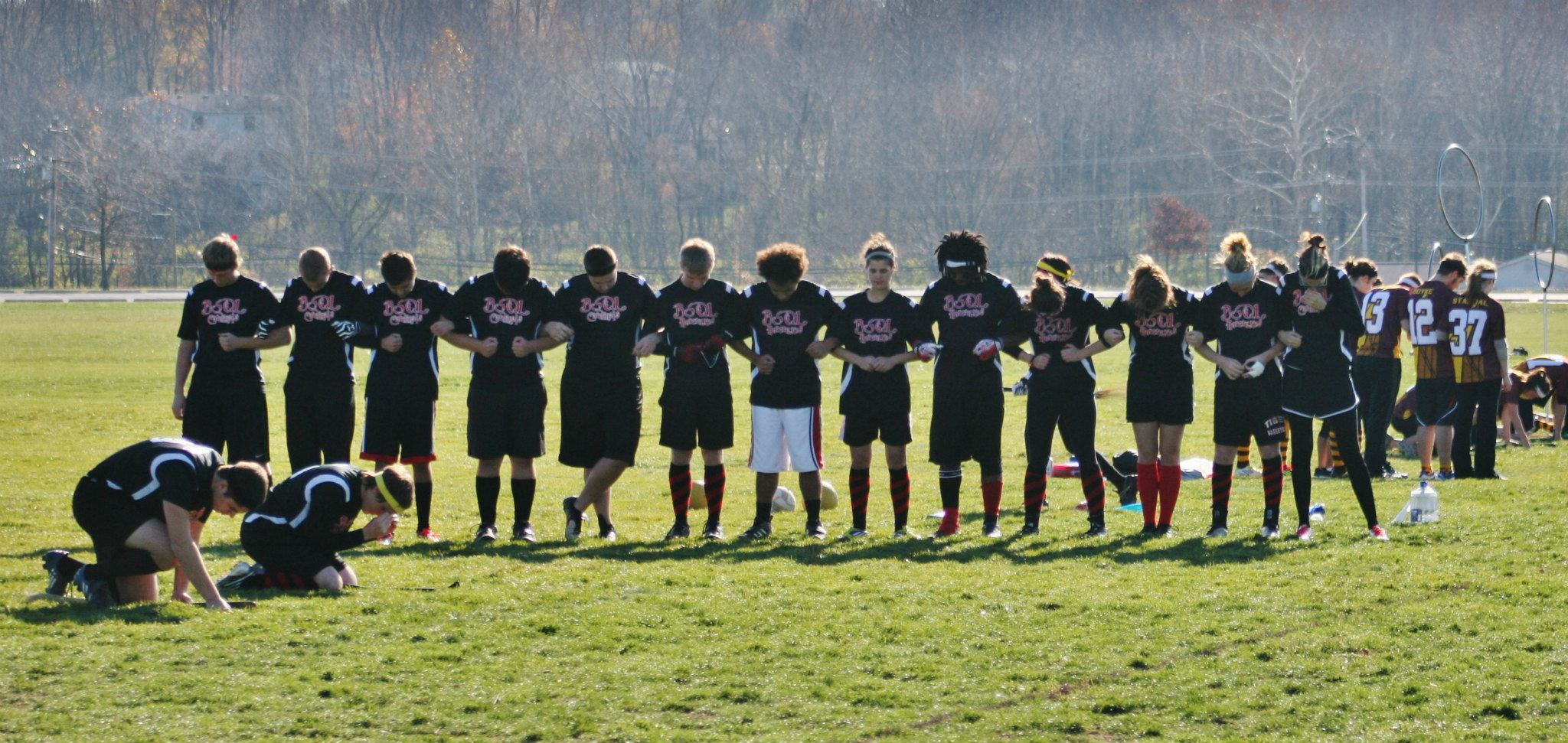 Ball State University is one of the top teams in the Midwest, with a roster full of physical chasers and a talented seeker game. Credit: Ball State Quidditch League