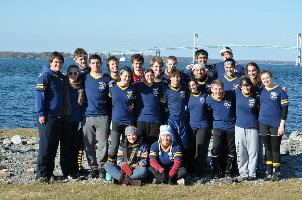 The Hofstra team poses at the Northeast Regional Championships. Credit: Hofstra Quidditch