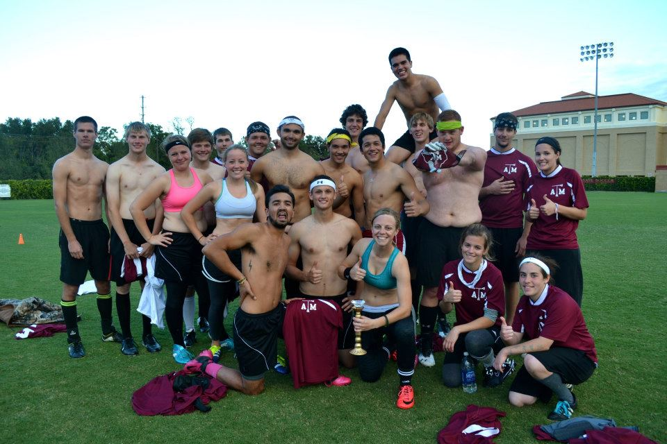 The Texas A&M team celebrates after winning the Diamond Cup in October 2012. (Credit:  Augusta Daley)