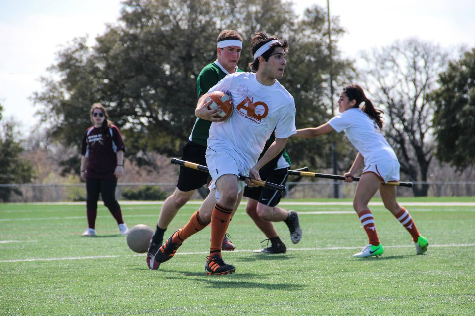 Don't sleep on Austin Quidditch in their early upset bid against Boston University. Credit: Lauren Carter