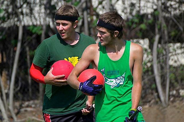 Green team's two male beater sets helped the team go all the way to the semifinals. Credit: Laurel Haspert